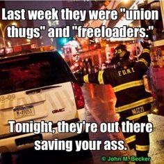 Union thugs at work. FUCK YOU MITT!