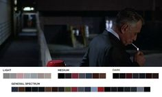 "Moviesincolor.com is a fantastic blog that posts movie stills along with their color palettes. This image comes from the 1996 Paul Thomas Anderson film ""Hard Eight"", with cinematography by the great Robert Elswit."