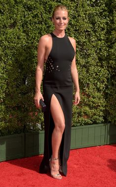 Cat Deeley from 2015 Creative Arts Emmys  The So You Think You Can Dance judge makes it a date night with her husband.