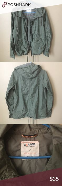 Garage Green Utility Jacket Outerwear S Used plenty of times !! My absolute favorite !! Does not Stretch Garage Jackets & Coats