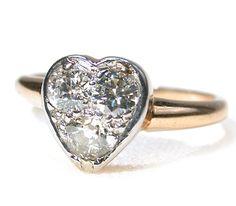 Edwardian Heart Diamond Ring