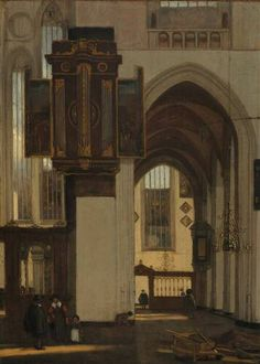 Emanuel de Witte, Interieur van een gotische kerk (Museum Boijmans van Beuningen, Rotterdam)
