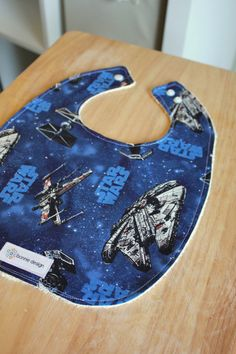 Star Wars Blues : Plastic Lined Bib. star wars, bibs, baby star wars
