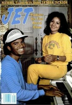 Mike with his sister LaToya on the cover of Jet Magazine