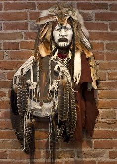 Crow Dog Spirit Mask by Cindy Jo Popejoy