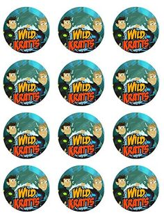 Wild Kratts Cupcake Toppers - Set of 12 -- Save this wonderfull product : baking decorations