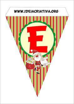Bandeirinha Varalzinho Natal Decoração Festa de Fim de Ano.