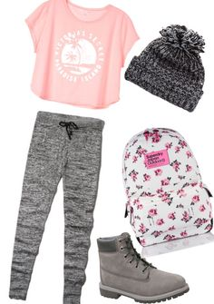 #beanie #grey - timberlands cute, cute clothes #joggers