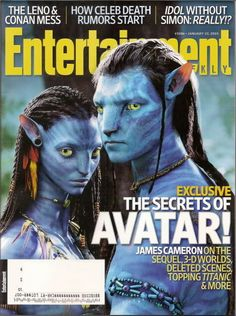Avatar Entertainment Weekly Jan 2010 James Cameron Corinne Bailey Rae