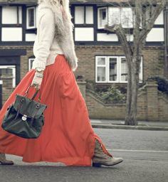how to wear maxi skirts with boots fall winter trends on