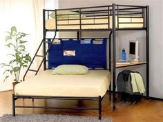 Acme Winoma Twin/Full Bunk Bed with Study Desk, offered by Acme Furniture, browse our great selection of Bunk Beds Twin Full Bunk Bed, Triple Bunk Beds, Futon Bunk Bed, Bunk Bed With Desk, Loft Bunk Beds, Metal Bunk Beds, Kids Bunk Beds, Adult Loft Bed, Babies Rooms