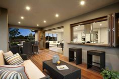 Alfresco. Deck. Love that it opens up the whole living space.