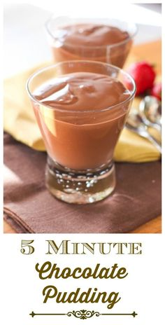 5 Minute Chocolate Pudding