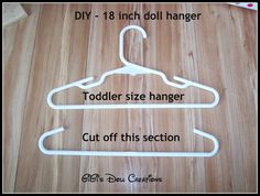 Doll y Artesanía Creaciones de GiGi: American Girl Doll Closet y Hanger Tutorial --------------- GiGi's Doll and Craft Creations: American Girl Doll Closet and Hanger Tutorial