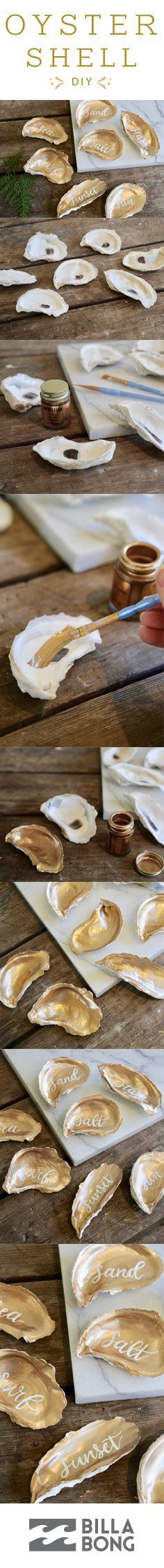 DIY #giveBILLABONG Oyster Shell // personalize for your guests this season.