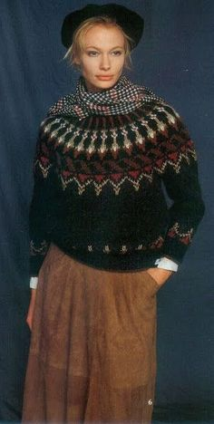 64 super Ideas for knitting patterns fair isle colour Fair Isle Knitting Patterns, Sweater Knitting Patterns, Knitting Designs, Hand Knitting, Icelandic Sweaters, Nordic Sweater, How To Purl Knit, Pulls, Knit Crochet