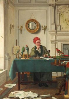 A Treatise on Parrots, 1885 - Henry Stacy Marks (1829-1898)