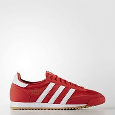 Adidas Originals - Adidas Dragon OG Trainers in Red & White sneakers all sizes #Adidas #Originals