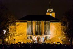 City Hall of Lahti, New Year's Eve Lahden kaupungintalolla uuden vuoden aattona.   Kuvakuja.fi