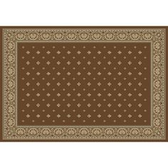 Merinos Pin Dot Framed Rug, Brown