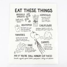 Lovely print to remind you to eat your veggies.