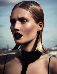 Model Toni Garrn Vamp Vampy Beauty Editorial Interview Magazine Russia April 2014 Photographers Driu & Tiago Styled by Katie Burnett Slicked...