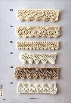 Stricken Baby :Мобильный LiveInternet 260 Knitting Pattern Book by Hitomi Shida Baby Knitting Patterns, Knitting Stiches, Lace Patterns, Lace Knitting, Stitch Patterns, Crochet Patterns, Knit Edge, Edge Stitch, Tear