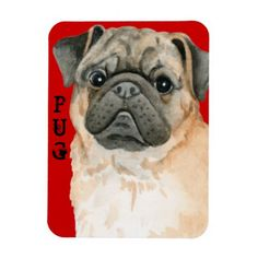 Pug Color Block Magnet   baby pugs, top electronic gifts, gifts for people who sew #hugapug #socks #mypeoplearebetterthenyourpeople