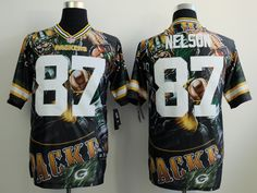 bfa98d568 2014 Men's Nike NFL Green Bay Packers #87 Jordy Nelson Fanatical Version  Elite Jersey