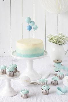 Ballon-Ombré-Törtchen + Schoko-Cupcakes-2