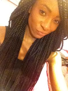 got large waist length box braids done a couple days agoo :D