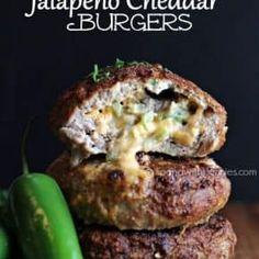 Jalapeno Cheddar Burgers (Turkey or Beef) Grilling Recipes, Beef Recipes, Cooking Recipes, Hamburger Recipes, Drink Recipes, Seafood Recipes, Dinner Recipes, Jalepeno Burgers, Mayonnaise