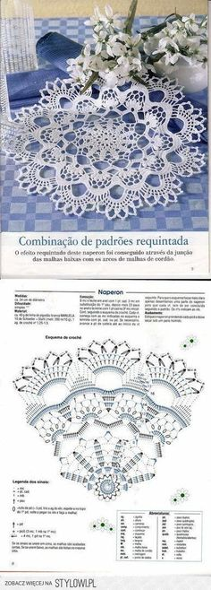 50 Ideas crochet lace vintage doily patterns for 2019 Free Crochet Doily Patterns, Crochet Coaster Pattern, Crochet Diagram, Crochet Stitches Patterns, Thread Crochet, Filet Crochet, Crochet Motif, Irish Crochet, Crochet Designs