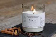 Duftkerze für die Winterzeit / scented candle for wintertime by Looops via DaWanda.com