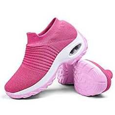 Women's Walking Shoes Sock Sneakers - Mesh Slip On Air Cushion Lady Girls Modern Jazz Dance Easy Shoes Platform Loafers - Fashion Sumi Best Nursing Shoes, Buy Shoes, Women's Shoes, Nike Shoes, Crazy Shoes, Walking Shoes, Sports Shoes, Sock Shoes, Air Max Sneakers
