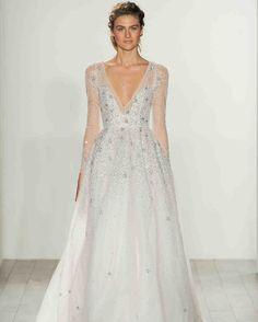Hayley Paige Fall 2017 Wedding Dress Collection | Martha Stewart Weddings – Long-sleeve ball gown wedding dress