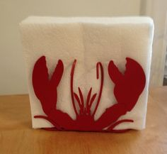 Red Lobster Indoor/Outdoor Napkin Holder Organizer