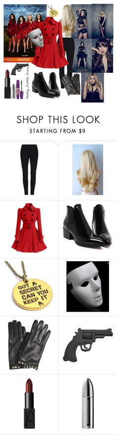 """""""Pretty Little Liars"""" by andiensyira ❤ liked on Polyvore featuring Valentino, NARS Cosmetics, Juliette Has A Gun and Rimmel"""
