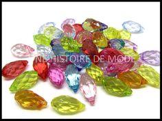 perles gouttes en acrylique - UNE HISTOIRE DE MODE