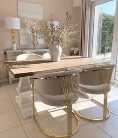Dining Area, Dining Table, Dining Room, Interior Styling, Interior Design, Gold Interior, Dream Home Design, Aesthetic Rooms, Home And Deco