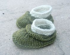 Knitting PATTERN BABY Booties