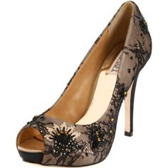 Badgley Mischka lacy pumps