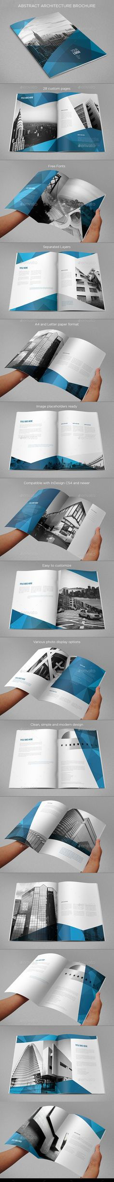 Abstract Architecture Vertical Brochure — InDesign INDD #professional #business • Available here → https://graphicriver.net/item/abstract-architecture-vertical-brochure/9686326?ref=pxcr