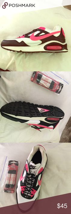 Nike air limited edition fits women's size 8.5 Never been worn in perfect condition come with extra laces if requested pink black and white nike air never been worn out or around just once out of the mall after purchase fit size 8.5 women's extremely completely and true to size - are from the girls section believe they're a girls size 7 but fit a my foot on the larger side of 8.5 perfectly. Limited editions Nike air can't get them anymore. Nike Shoes Sneakers