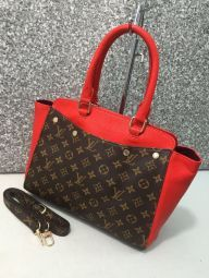ce62df80b08 Delightful  Black and  Red Colored Leather  HandBag  Wholesale  Supplier   online