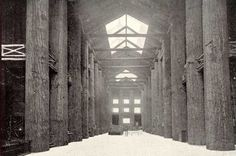Interior view of the Forestry Building. This was a museum for all of Oregon's natural resources.