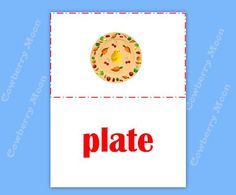 "Baby Book Teach Baby to Read ""plate"" Page,Instant Download,Homeschool Book ""plate"" Page,Learn To Read Printable,Flashcards by CowberryMoon on Etsy"