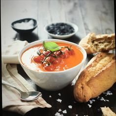 Tomato soup ( shot at food photography course)