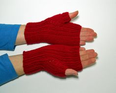 These handwarmers (fingerless gloves) are both beautiful and versatile! They will keep your hands warm indoors and out while still leaving your
