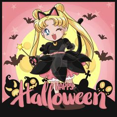Usagi Happy Halloween by riccardobacci on DeviantArt Sailor Moon Gif, Sailor Moom, Sailor Moon Fan Art, Sailor Moon Wallpaper, Sailor Moon Character, Sailor Moon Cosplay, Sailor Uranus, Sailor Moon Crystal, Sailor Moon Halloween
